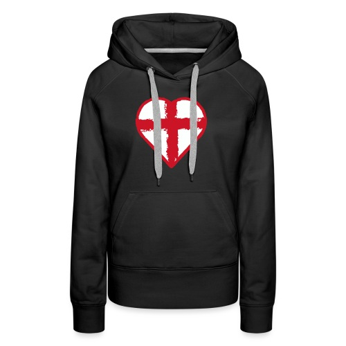 Heart St George England flag - Women's Premium Hoodie