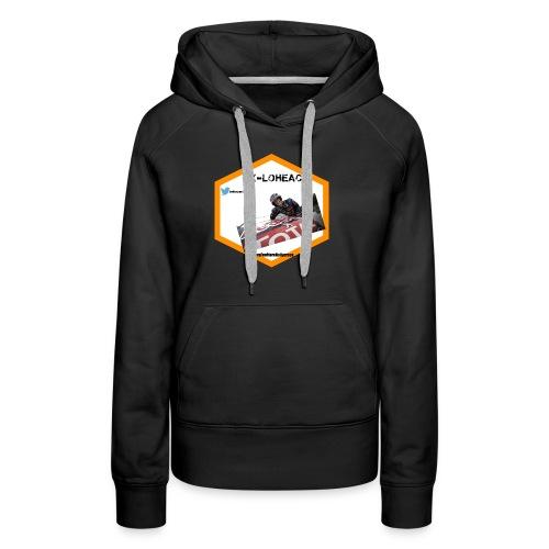 rxloheac new logo grand format png - Sweat-shirt à capuche Premium pour femmes