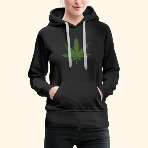 Weed leave 20x20 - Sweat-shirt à capuche Premium pour femmes
