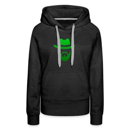 izicron logo vert - Sweat-shirt à capuche Premium pour femmes