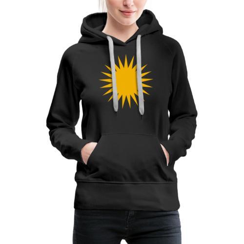 Kurdische Sonne Symbol - Frauen Premium Hoodie