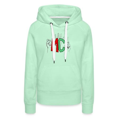 Logo vuoto iMorracinese - Felpa con cappuccio premium da donna