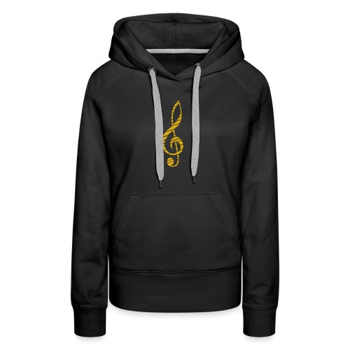Goldenes Musik Schlüssel Symbol Chopped Up - Women's Premium Hoodie