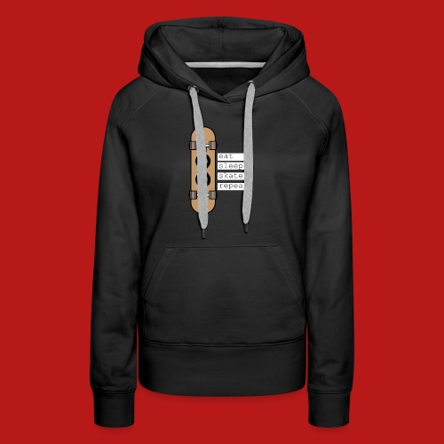 eat sleep skate repeat - Vrouwen Premium hoodie