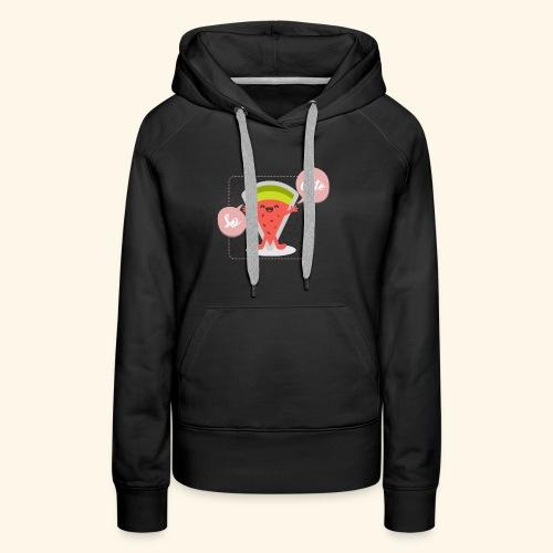 pastèque cute - Sweat-shirt à capuche Premium pour femmes