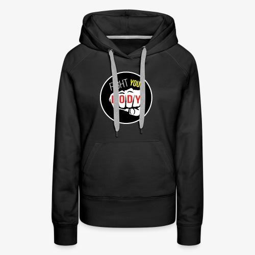 logo fyb noir - Sweat-shirt à capuche Premium pour femmes