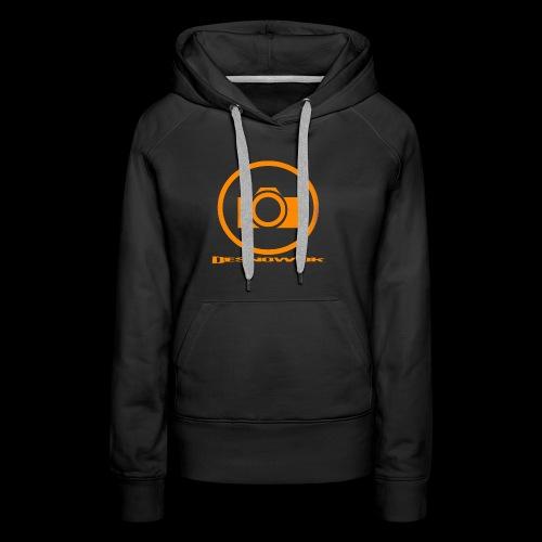 Orange 2 png - Dame Premium hættetrøje