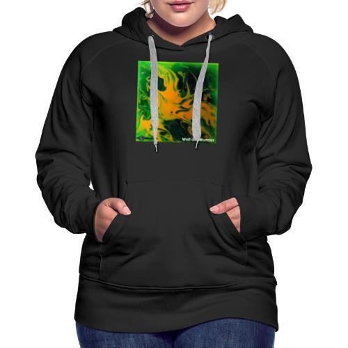 TIAN GREEN Mosaik DE002 - Welt der Wunder - Frauen Premium Hoodie
