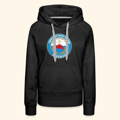1 nl un signalbattalion veteraan - Vrouwen Premium hoodie