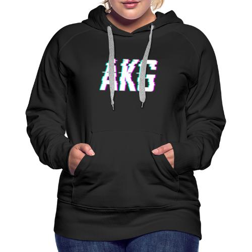 AKG Weiß Glitched - Frauen Premium Hoodie