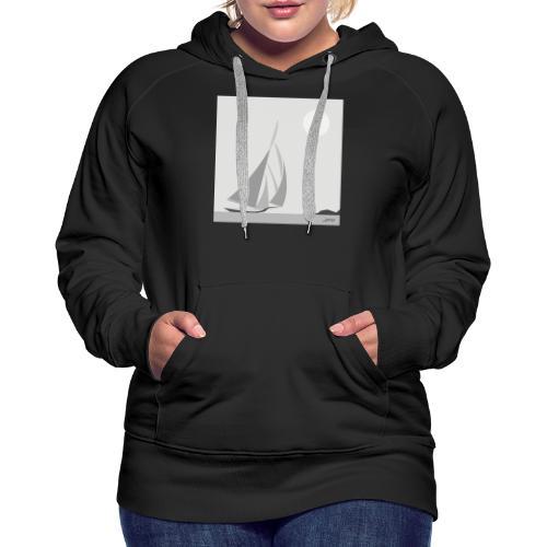 voilier - Sweat-shirt à capuche Premium pour femmes