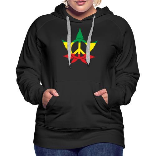 Peace färbig - Frauen Premium Hoodie