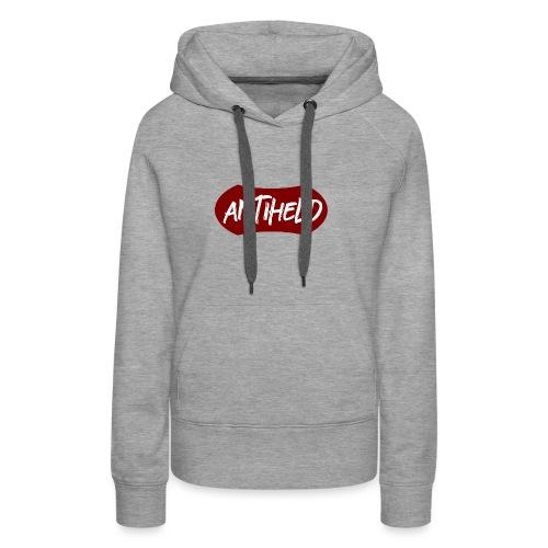 Antiheld Typografie Wappen - Frauen Premium Hoodie