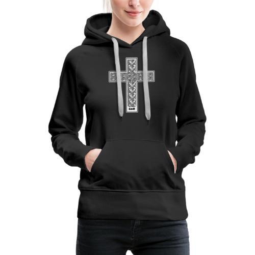 Jesus cross. I'm no longer a slave to fear. - Women's Premium Hoodie