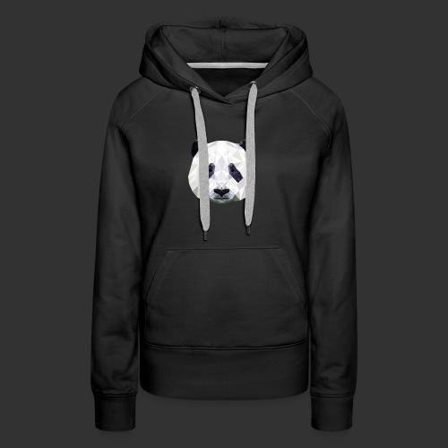 Panda Low Poly - Sweat-shirt à capuche Premium pour femmes