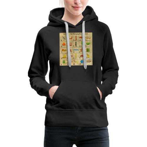 The Hieroglyphic Alphabet - Frauen Premium Hoodie