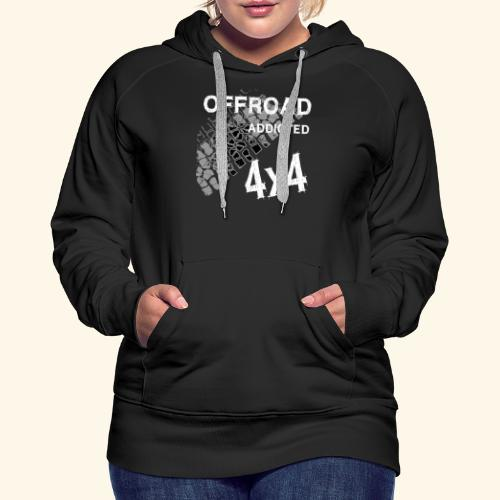 OFFroadAddictedWhite - Frauen Premium Hoodie