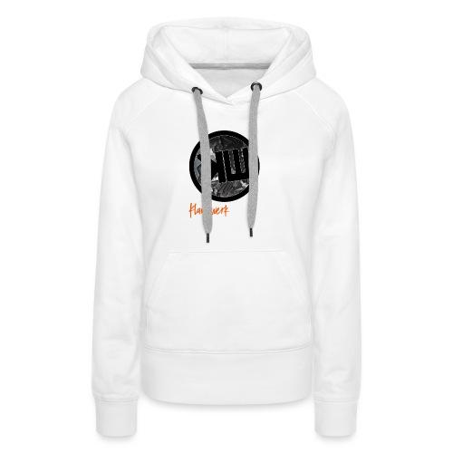 white logo tshirt - Women's Premium Hoodie