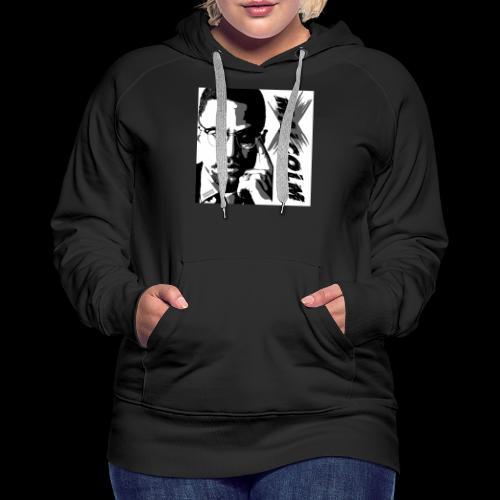 Malcom X Black and White - Frauen Premium Hoodie