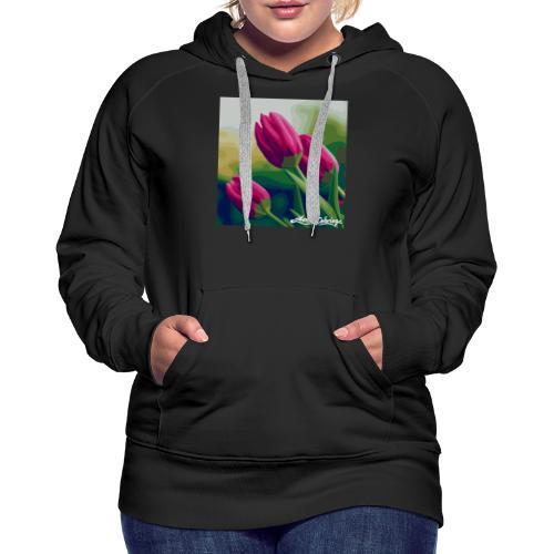 Blomster - Dame Premium hættetrøje