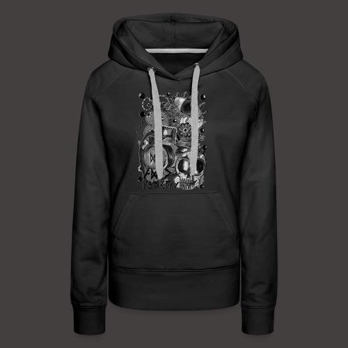AGAC Picture Noir et Blanc - Sweat-shirt à capuche Premium pour femmes