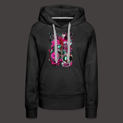 AGAC Picture Bleu et Rose - Sweat-shirt à capuche Premium pour femmes