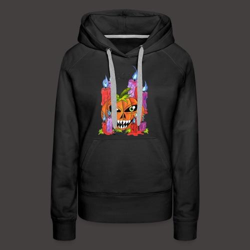 CANDLE PUMPKIN - Sweat-shirt à capuche Premium pour femmes