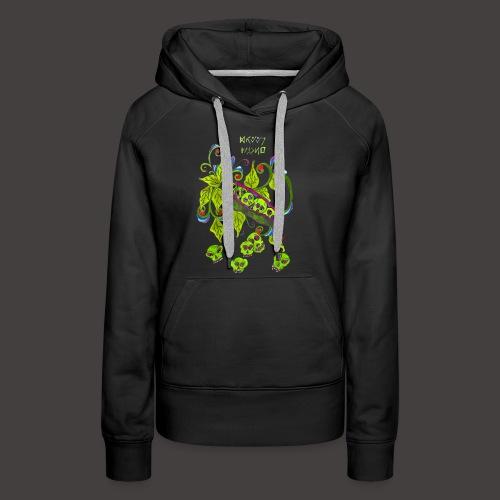 GREEN PSYCHO - Sweat-shirt à capuche Premium pour femmes