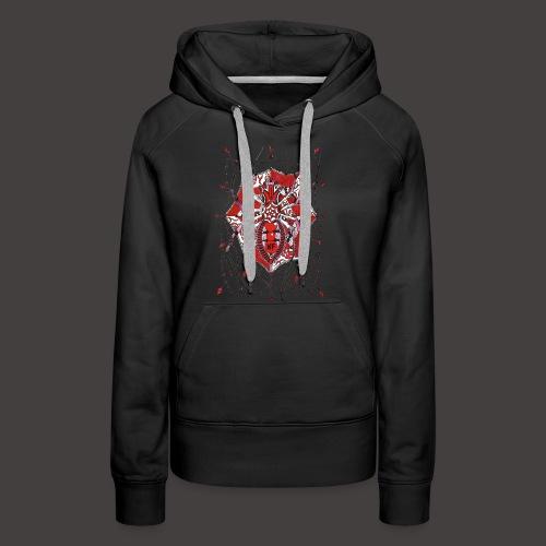 Spider Dentelle Red - Sweat-shirt à capuche Premium pour femmes