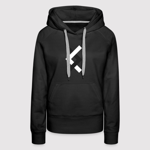 DANE - Black & White - Women's Premium Hoodie