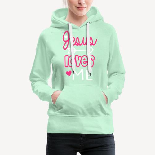 JESUS LOVES ME - Women's Premium Hoodie