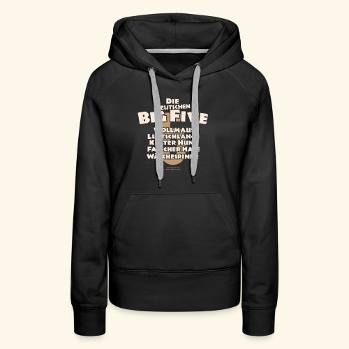 Sprüche T Shirt Die deutschen Big Five für Geeks - Frauen Premium Hoodie