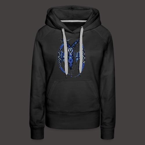 Chauve Souris Dentelle Bleue - Sweat-shirt à capuche Premium pour femmes