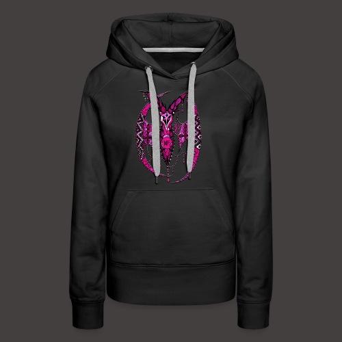 Chauve SourisDentelle Rose - Sweat-shirt à capuche Premium pour femmes
