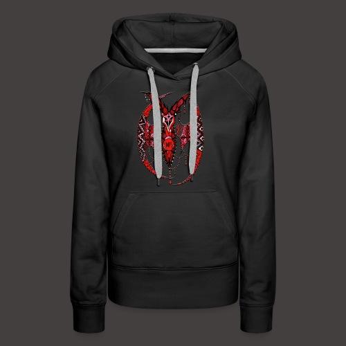 Chauve Souris Dentelle Rouge - Sweat-shirt à capuche Premium pour femmes