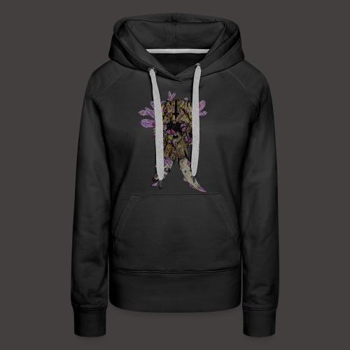 L'éléphant de Cristal Creepy - Sweat-shirt à capuche Premium pour femmes