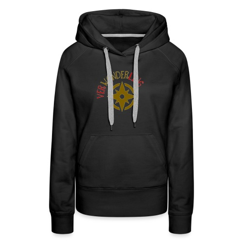 Verwonderling klein logo - Vrouwen Premium hoodie