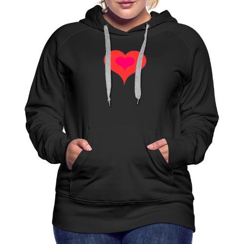 Corazon II - Sudadera con capucha premium para mujer