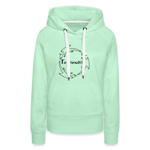 trois dragons tolkiendil forgottenuncial - Sweat-shirt à capuche Premium pour femmes