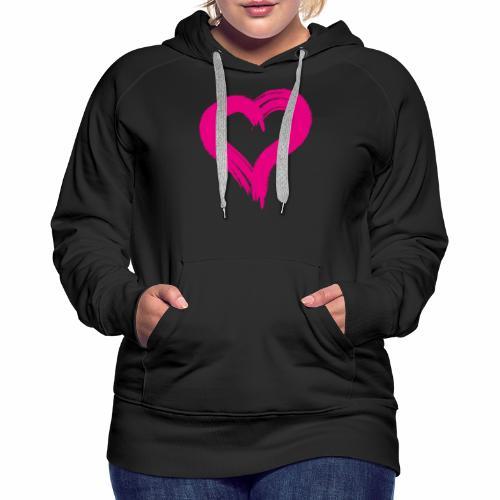 Pink Heart - Women's Premium Hoodie