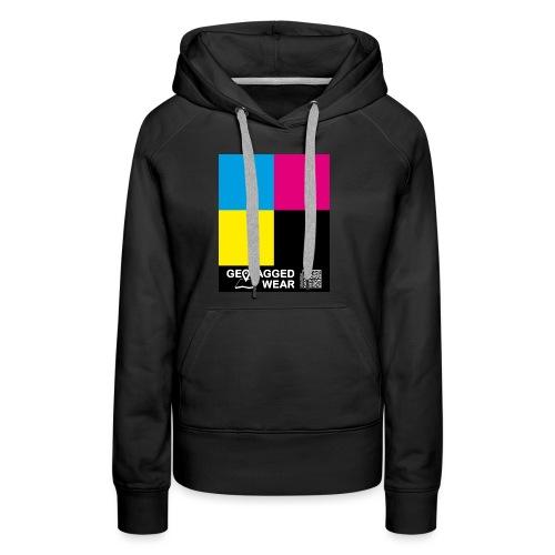 Square CMYK #1 - CMYK Collection - Frauen Premium Hoodie