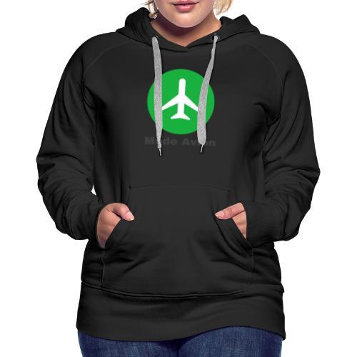 Mode Avion - Sweat-shirt à capuche Premium pour femmes