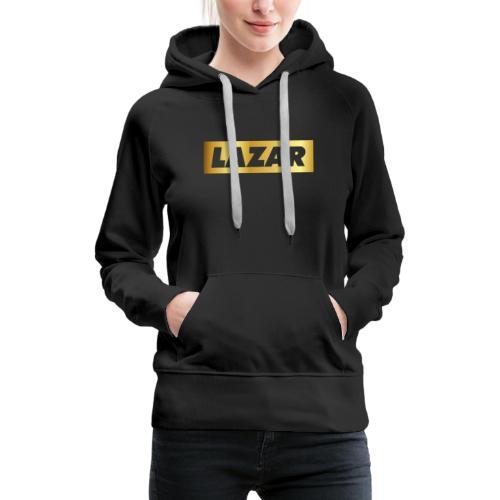 00396 Lazar dorado - Sudadera con capucha premium para mujer