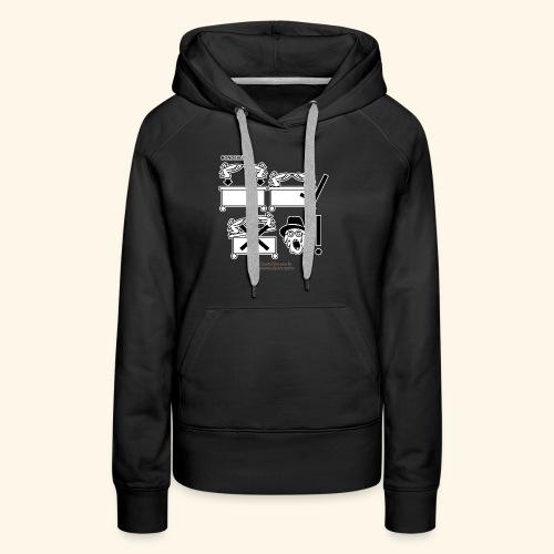Film Geek T Shirt Design Bondesläd - Frauen Premium Hoodie
