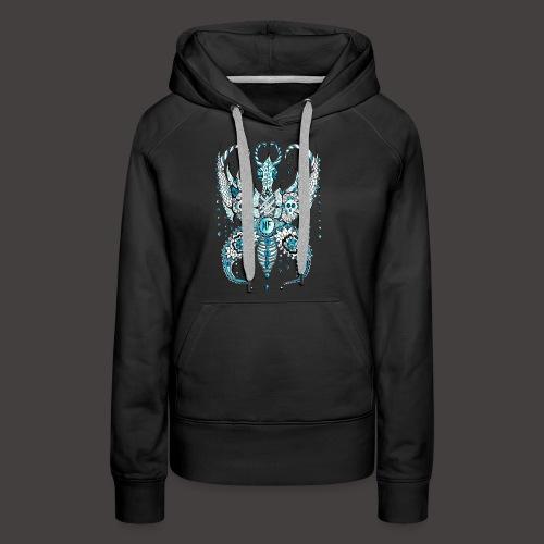 Papillon Lilou Turquoise - Sweat-shirt à capuche Premium pour femmes
