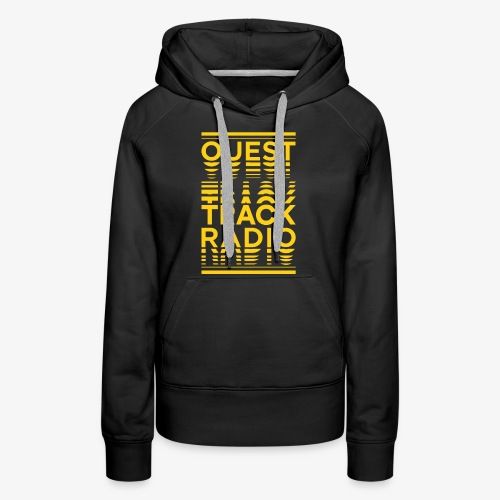 Logo Vertical Grand Jaune - Sweat-shirt à capuche Premium pour femmes