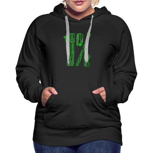 1 % Matrix - Frauen Premium Hoodie