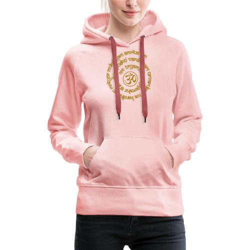Yoga Mantra Motiv Tryambakam Heilmantra Gold - Frauen Premium Hoodie