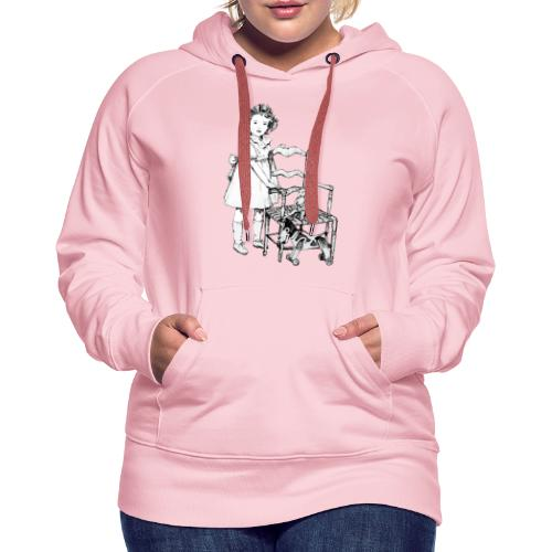 Nelly et sa chaise - Sweat-shirt à capuche Premium pour femmes