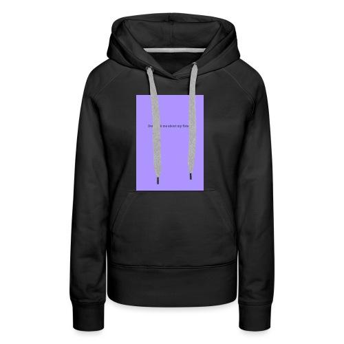 NO FUTURE - Sweat-shirt à capuche Premium pour femmes